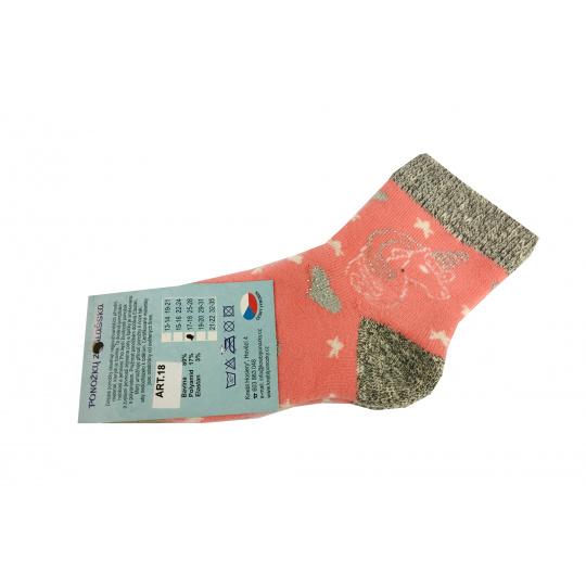 Ponožky Zimní Jednorožec