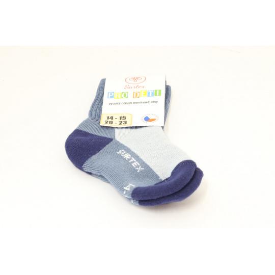 Surtex merino ponožky sv. šedo modré