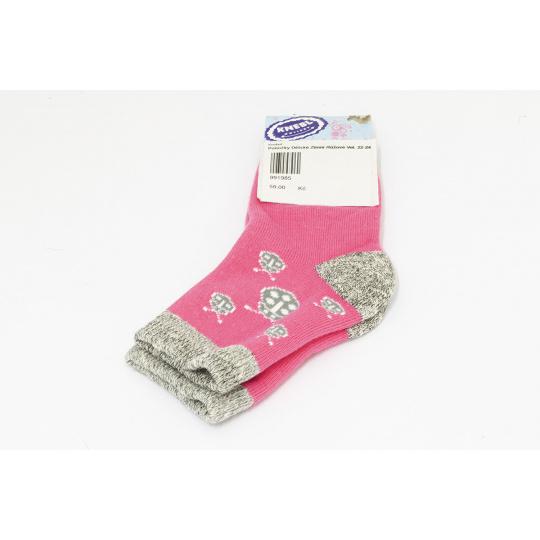 Ponožky zimní růžové