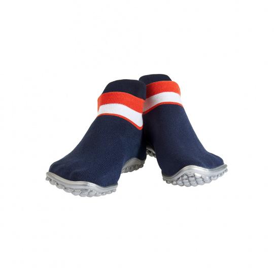 leguano sneaker modré, červeno-bílý pruh Velikost: L 42/43 - délka stélky 26,5 cm, šířka 9,8 cm