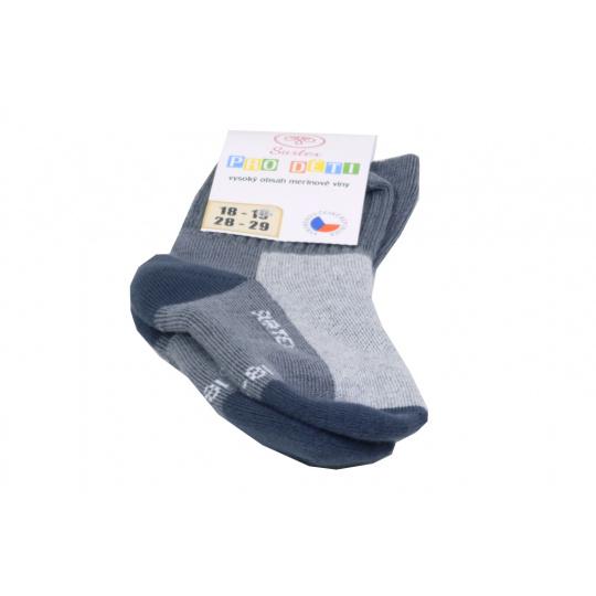 Surtex merino ponožky šedé