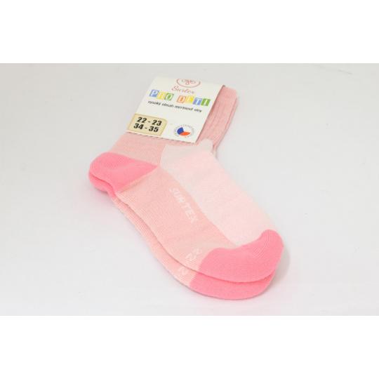Surtex merino ponožky sv. růžové