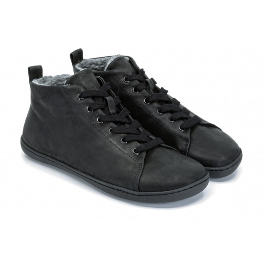 Mukishoes High-cut Raw Black Winter