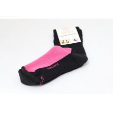 Surtex merino ponožky černo růžové