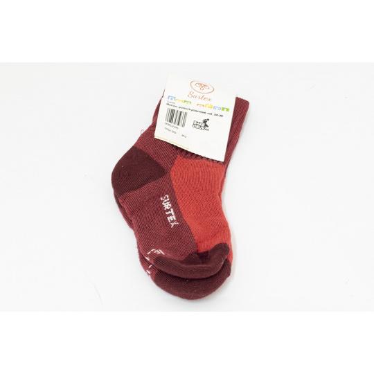 Surtex merino ponožky červené