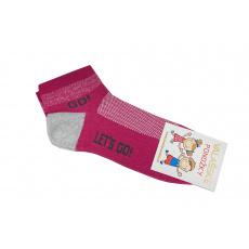 Ponožky tm. růžové