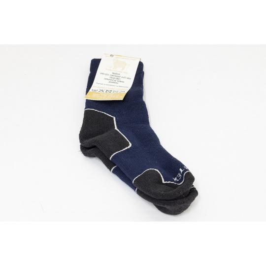 Surtex merino ponožky tm. modré
