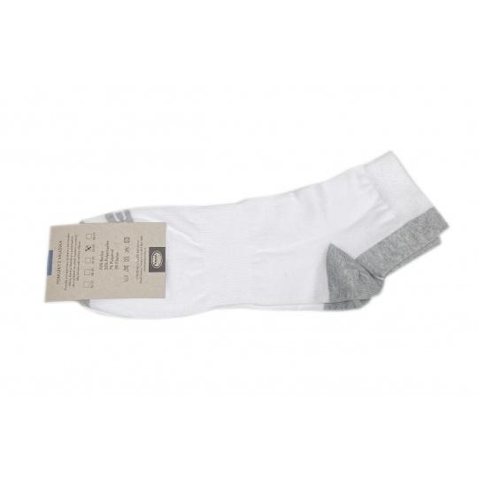 Knebl ponožky bílé nízké