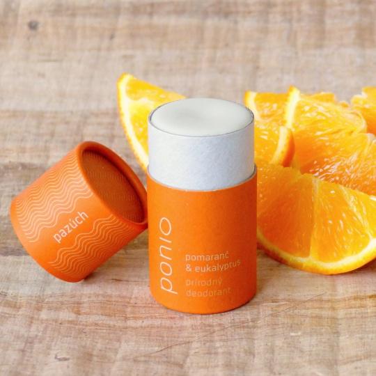 Ponio přírodní deodorant Pomeranč/Eukalyptus