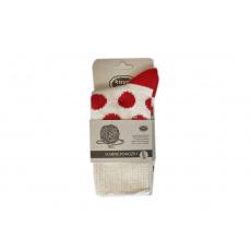 Knebl ponožky vlněné světlo červené