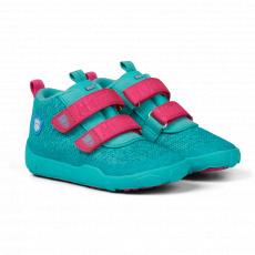 Affenzahn Low Boot Knit Owl Green/Pink