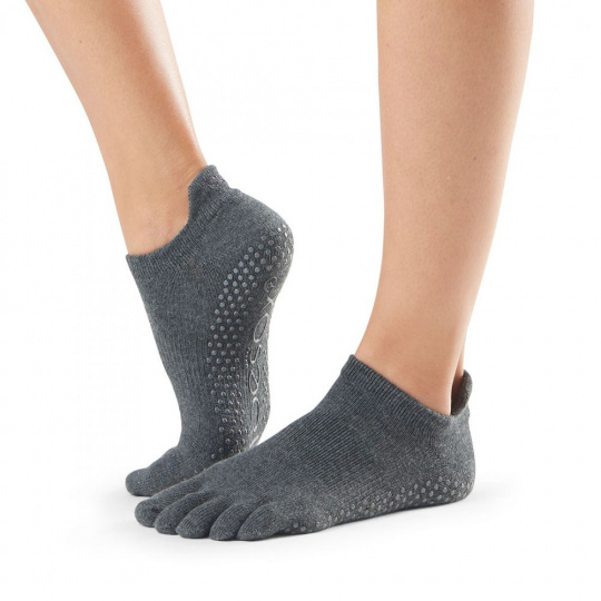 ToeSox Low Rise Charcoal Grey