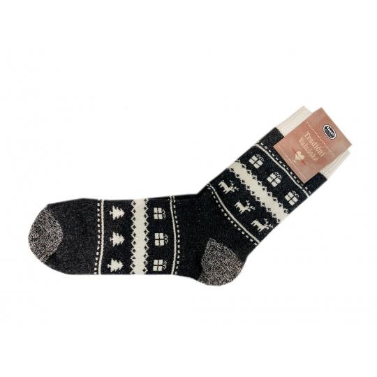Knebl ponožky šedo černé
