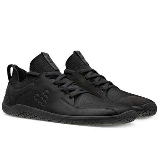 VivoBarefoot Primus Knit Lux M leather black