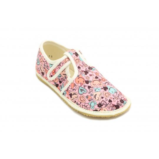Jonap papuče Růžové srdíčka