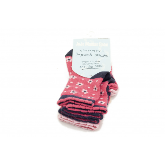 Ponožky dívčí 3 pack