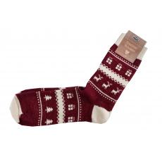 Knebl ponožky vlněné Sobi červená