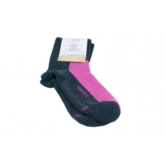 Surtex merino ponožky růžovo šedé