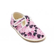 Jonap papuče Růžové srdíčka 2