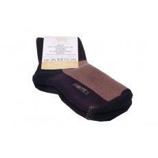 Surtex merino ponožky tm. hnědé