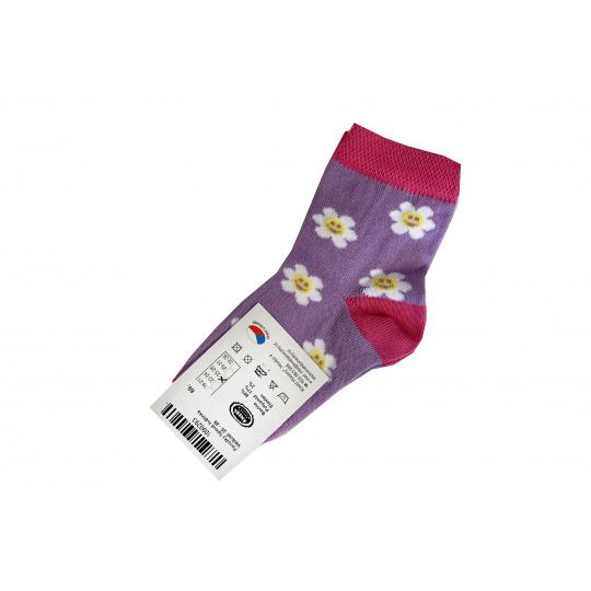 Ponožky fialové květinka