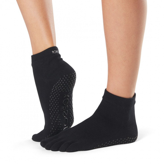 ToeSox Low Rise Black