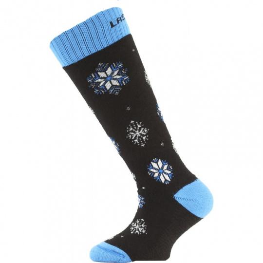 Lasting dětské merino ponožky SJA905 černé