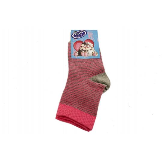 Ponožky bavlné růžové