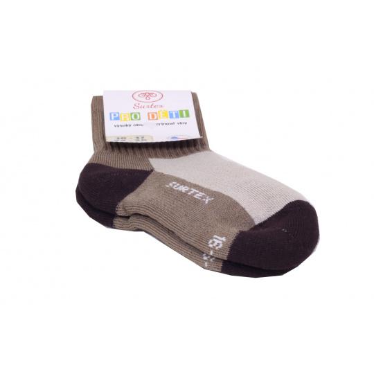 Surtex merino ponožky sv. hnědé