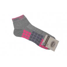 Ponožky šedo růžové