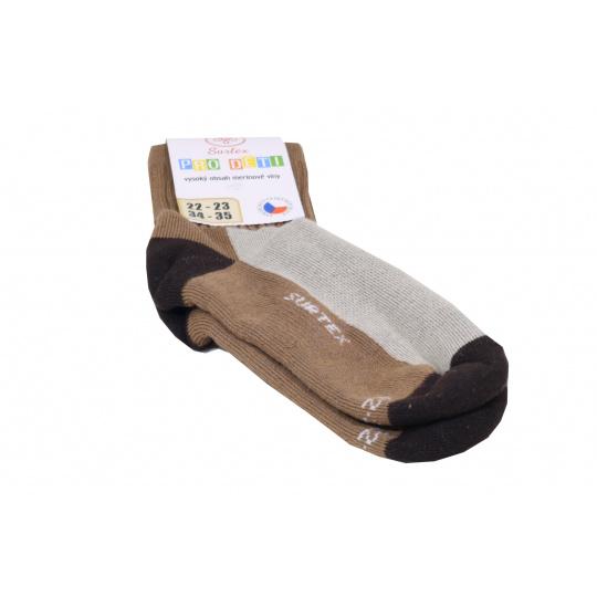 Surtex merino ponožky hnědá
