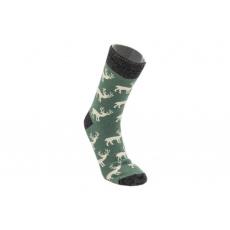 Knebl ponožky vlněné Sobi zelené