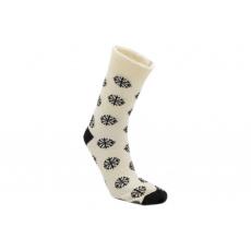 Knebl ponožky vlněné světlo černé