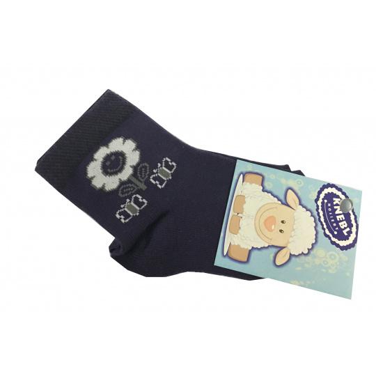 Ponožky bavlné fialové